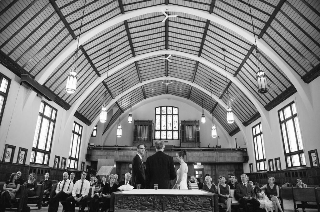 wedding ceremony at Loyola Chapel Concordia University