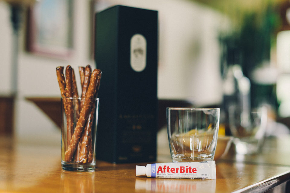 How to survive a photo shoot in the woods: Afterbite and Alcohol