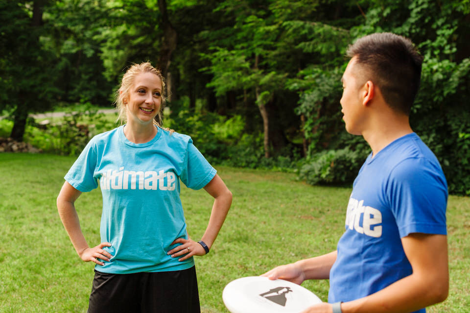 Lifestyle photos of couple playing Ultimate Frisbee 02
