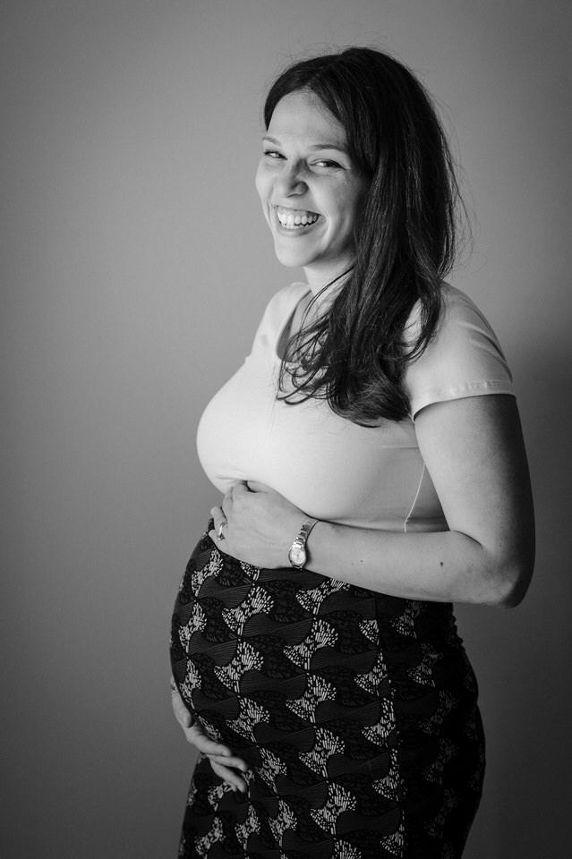 Smiling portrait of pregnant woman