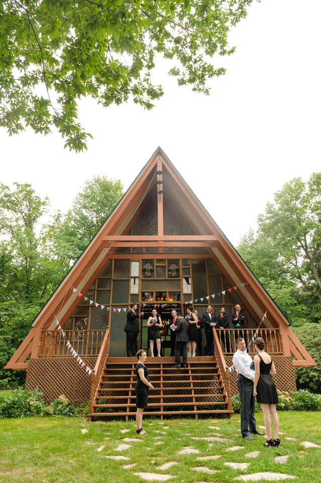 A-frame chapel at Hotel Trois-Tilleuls