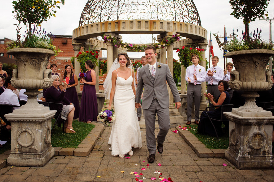 Just married wedding couple at Saint-Ambroise venue
