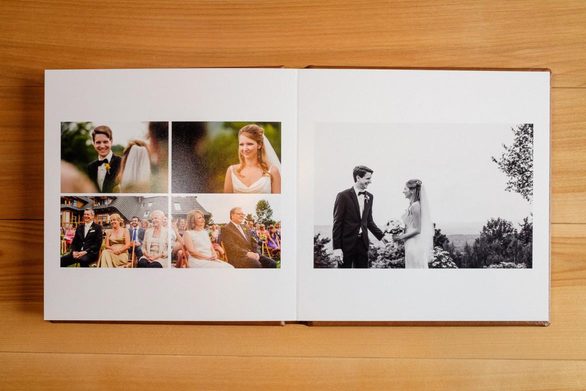 Album de mariage carré ouvert