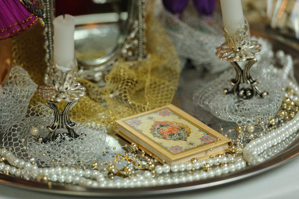 Sofreh at Persian wedding