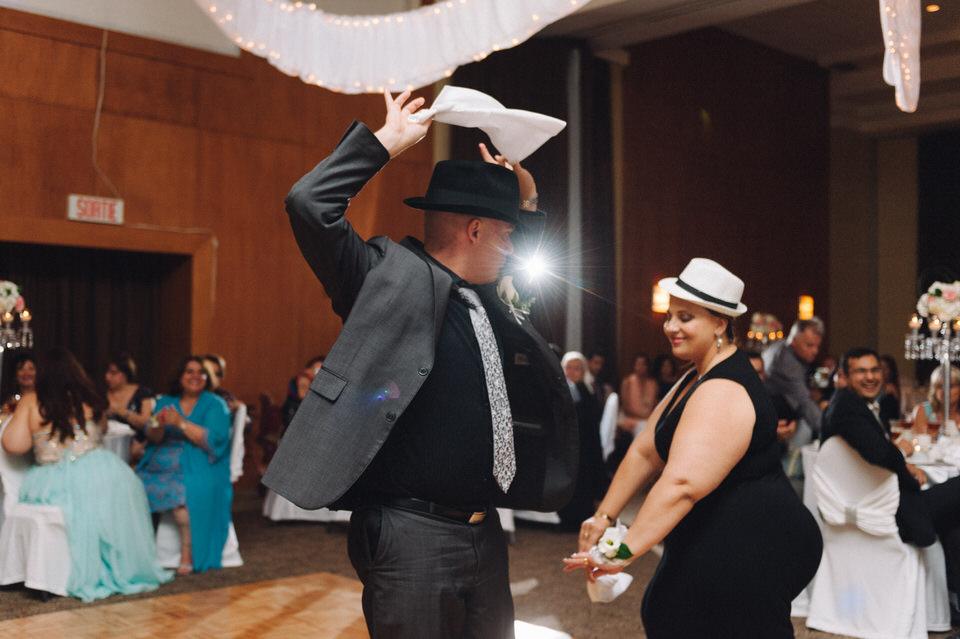 Iranian dancing at wedding