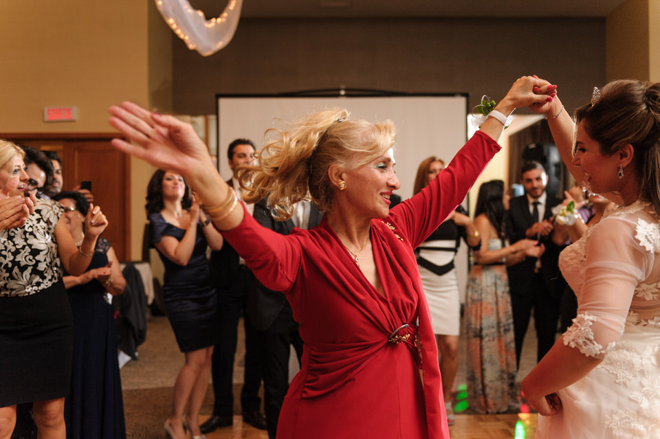 Dancing at Iranian wedding at Chateau Bromont 01