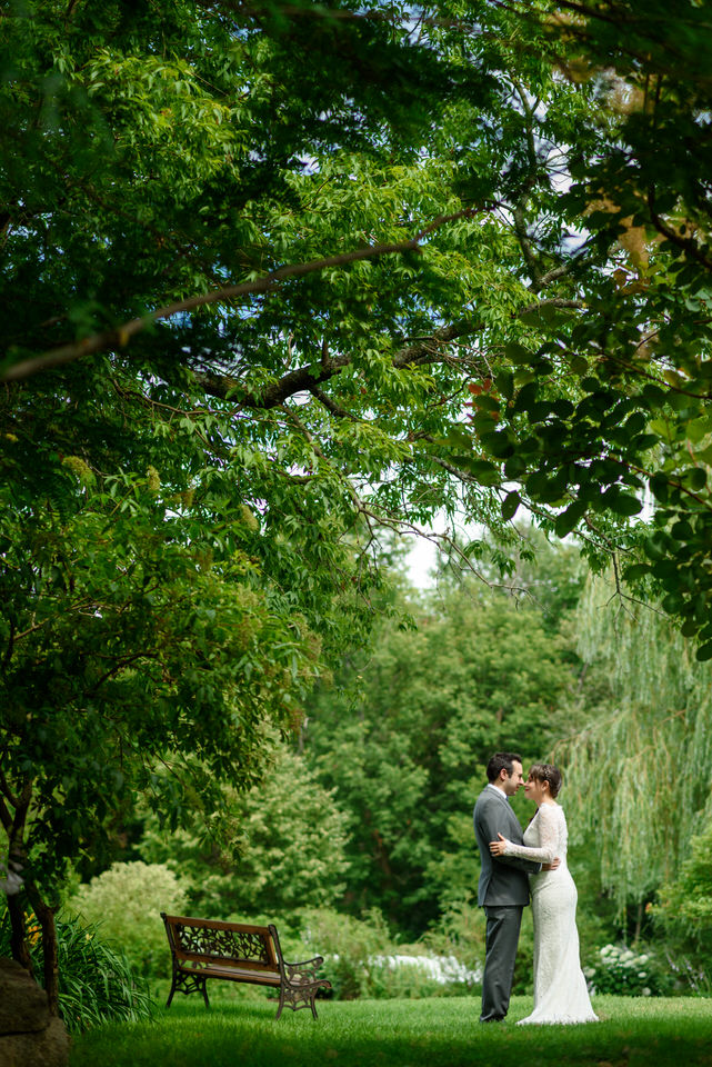 Wedding portrait at Auberge des Gallant