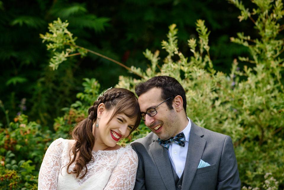 Wedding portrait in the garden at Auberge des Gallant