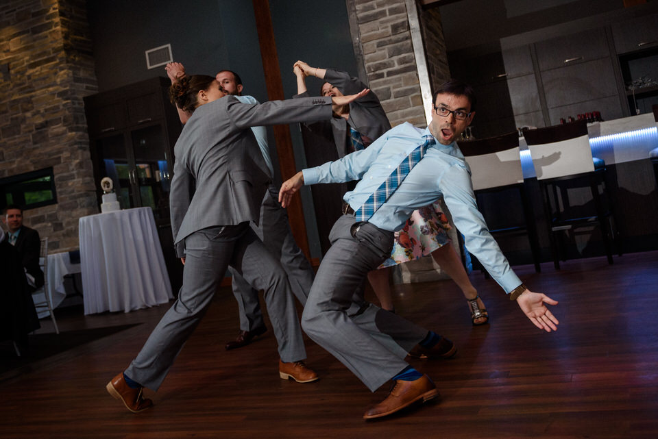 Bridal party performing A Millions Ways to be Cruel dance by OK GO 02