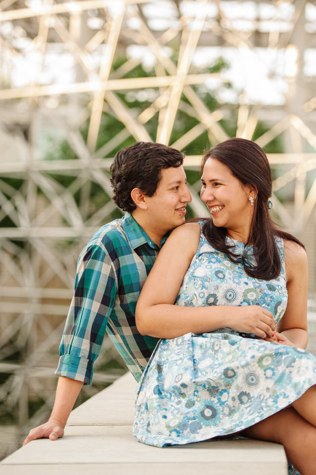 Engagement photo at Montreal Biosphere