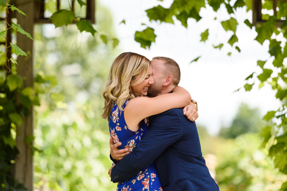 Happy couple in an embrace