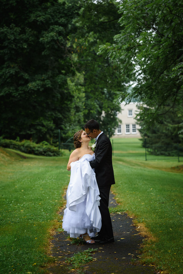 Wedding portrait at Abbaye Oka
