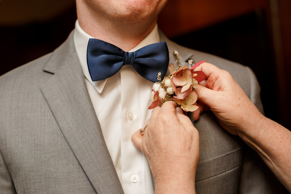 Bowtie and boutonniere