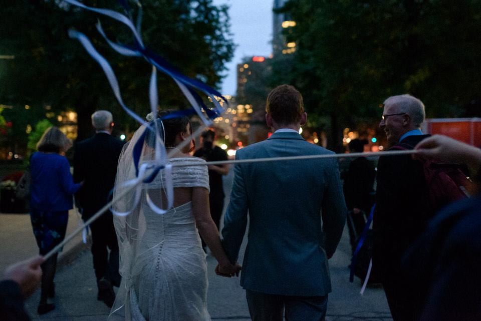 Wedding parade on Montreal's street