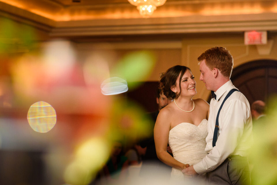 Artistic shoot of the newlyweds dancing