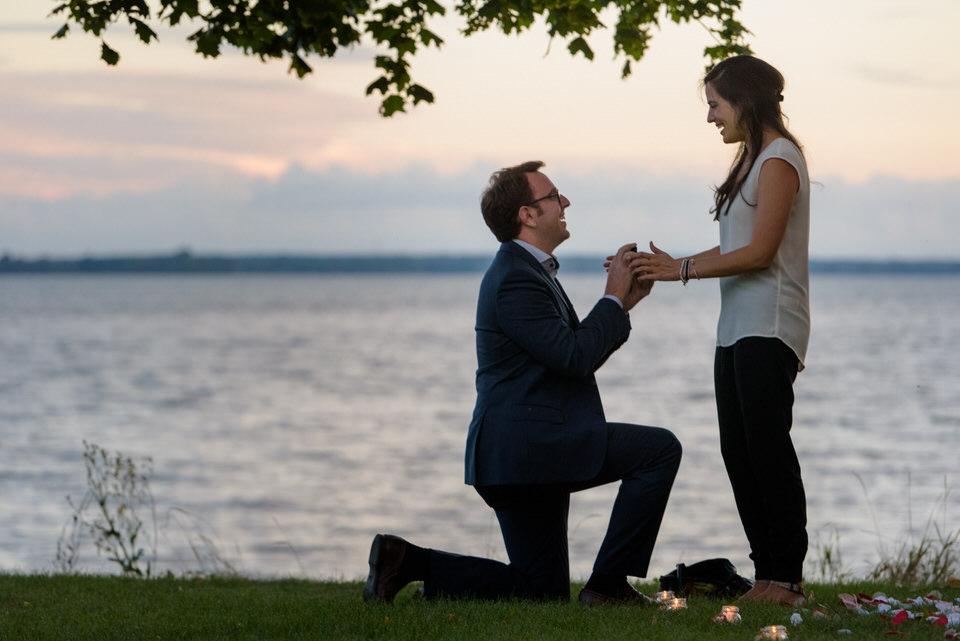 Surprise proposal reaction photos