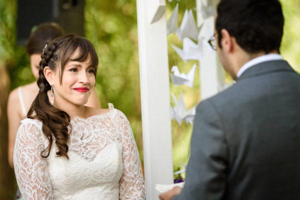 Emotional vows at Auberge des Gallant wedding in Rigaud, Quebec