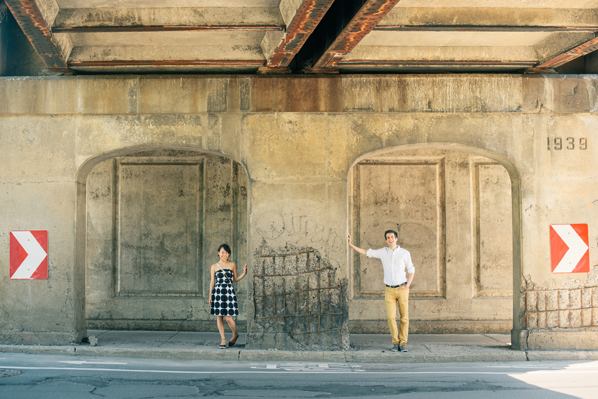 engagement portrait tunnel griffintown