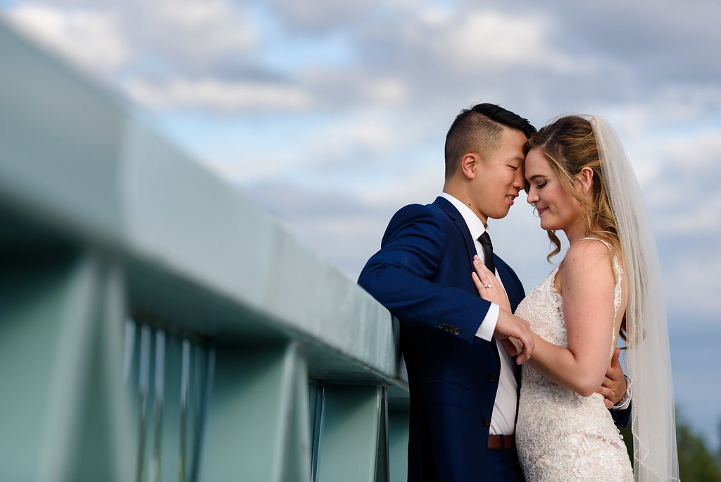 Wedding photo along Lachine Canal, Montreal