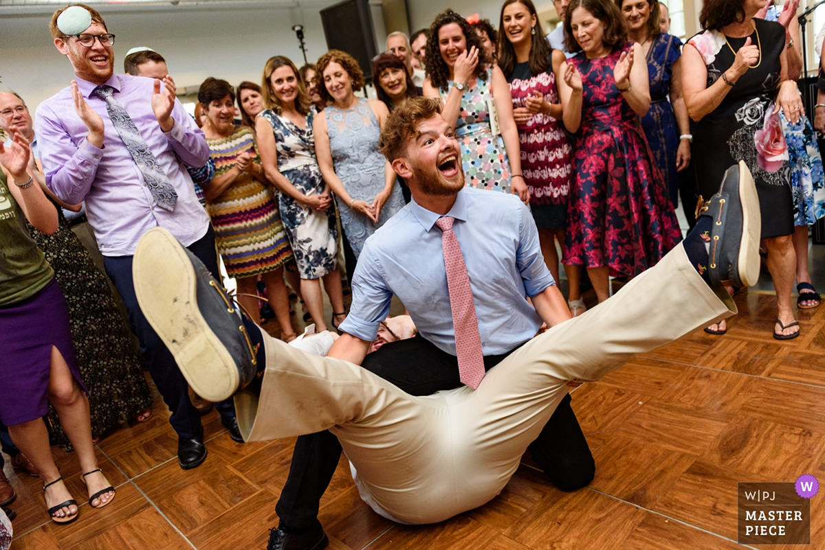 Award-winning wedding photo of wedding shtick
