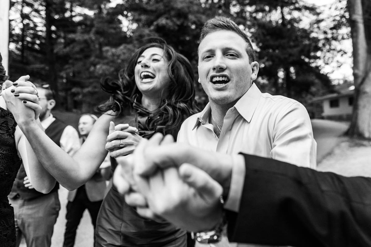 Black and white photojournalist wedding photo in Massachusetts