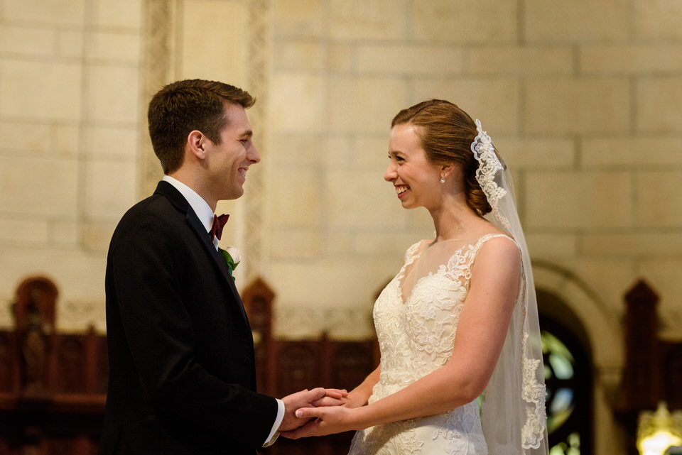 Wedding vows at Westmount church