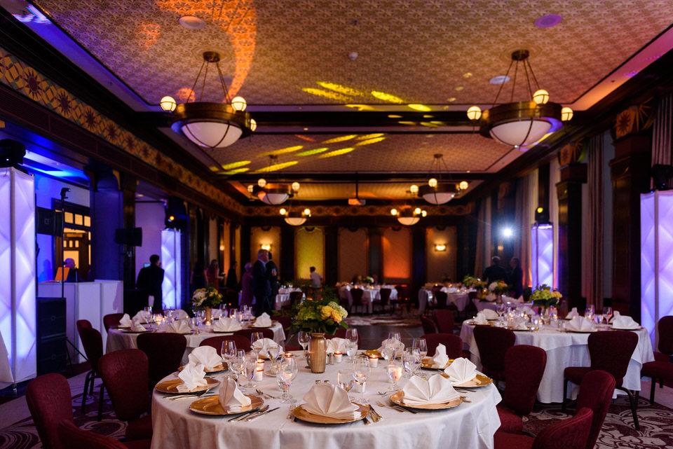Intercontinental Montreal Hotel wedding reception decor