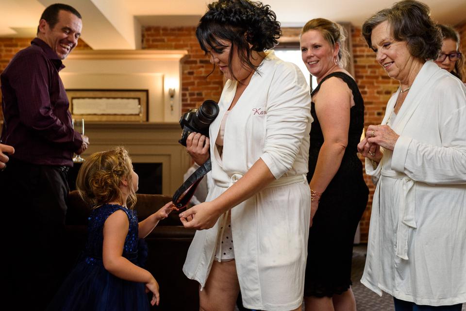 Chaos as bride and bridesmaids get ready