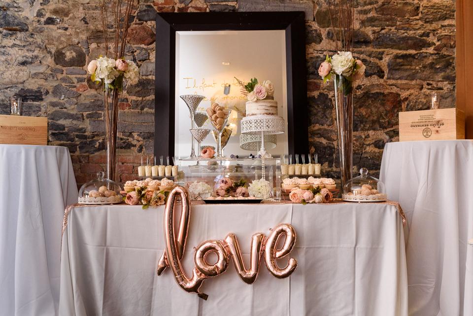 Wedding decor details at Hotel Nelligan wedding 01
