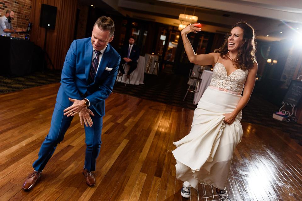 First dance at Hotel Nelligan wedding 07