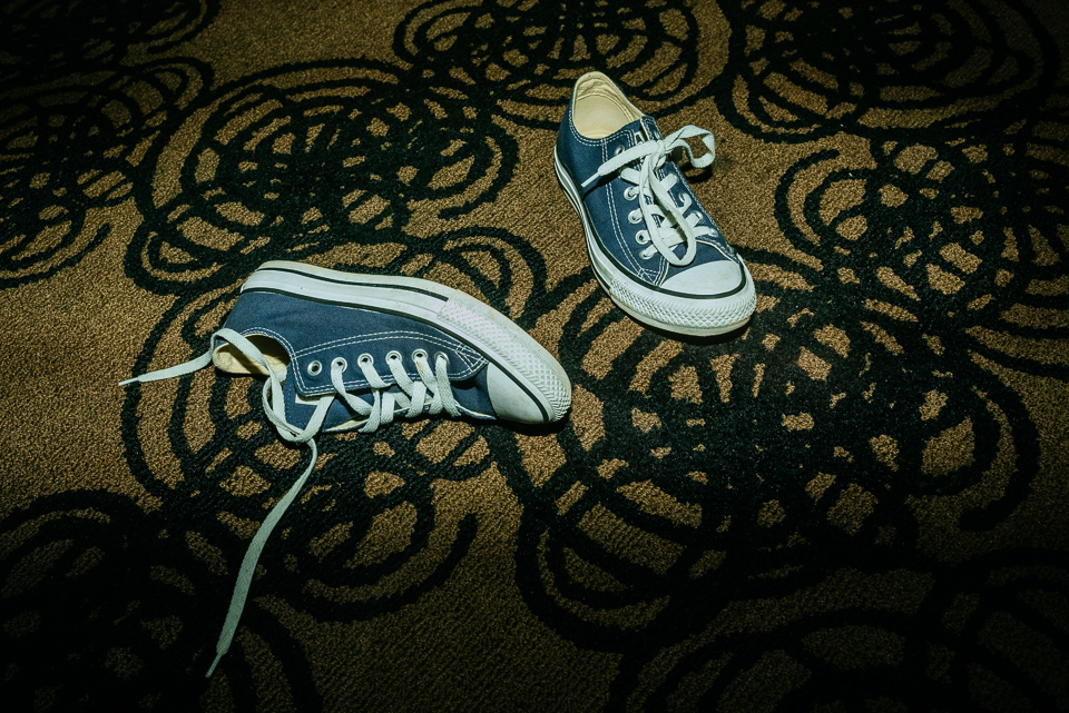 Discarded shoes at wedding