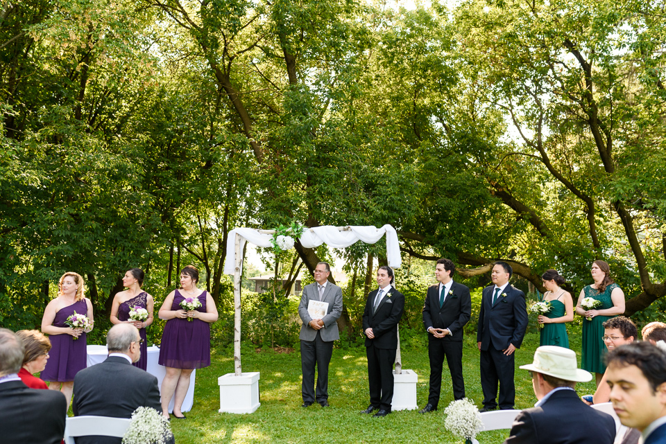 Wedding ceremony at Fritz Farm