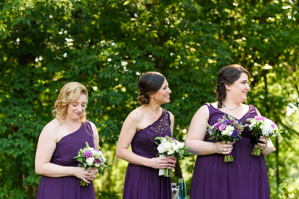 Bridemaids at wedding ceremony