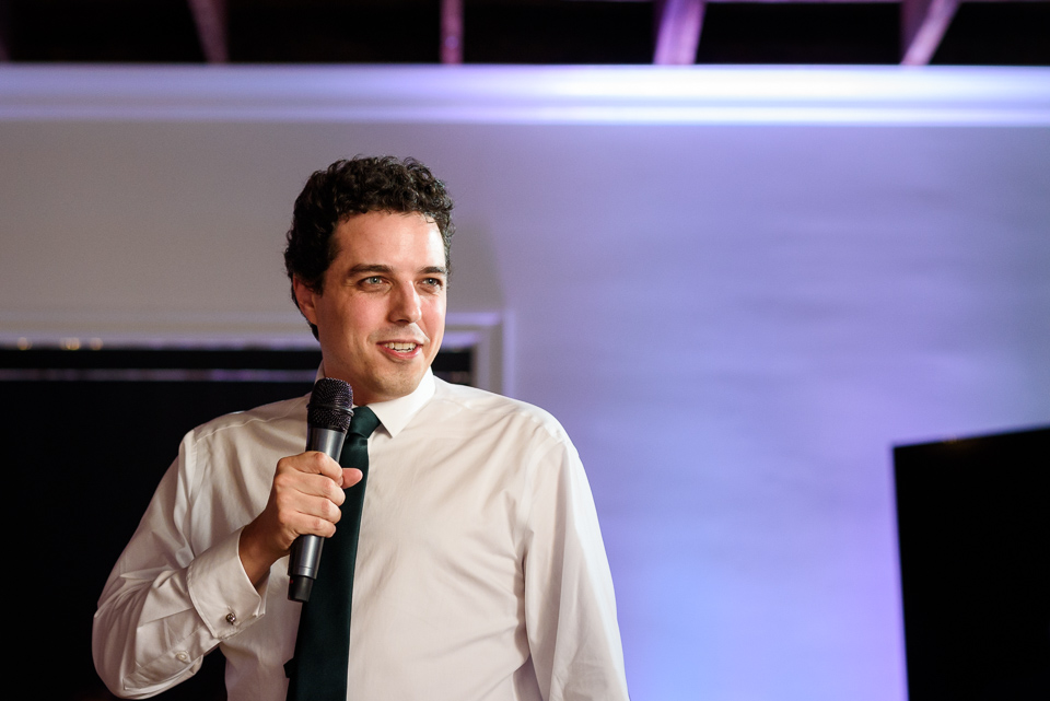 Man giving a speech at Canvas Montreal wedding