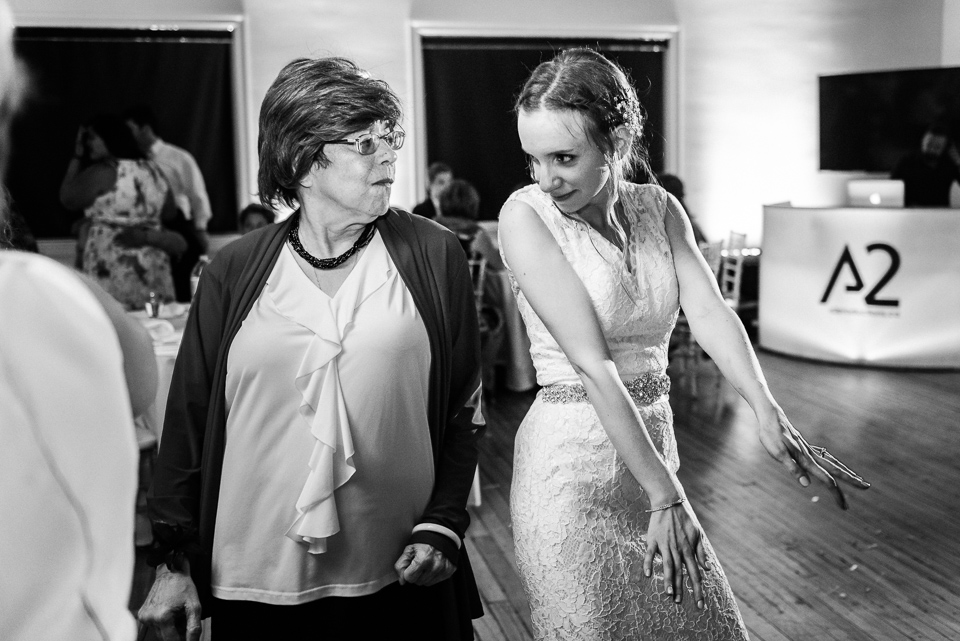 bride dancing with groom's mom