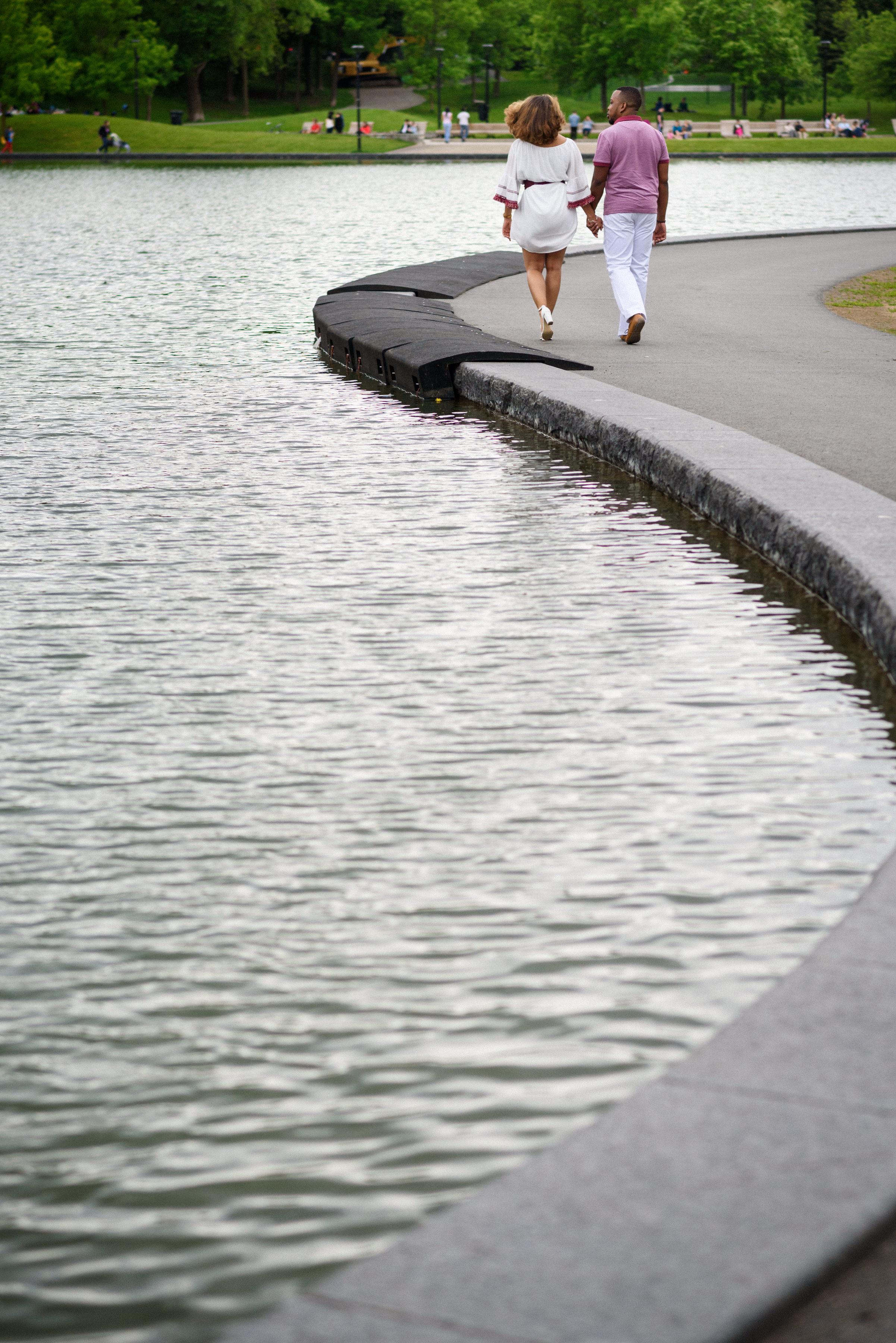 beaver Lake engagement photo
