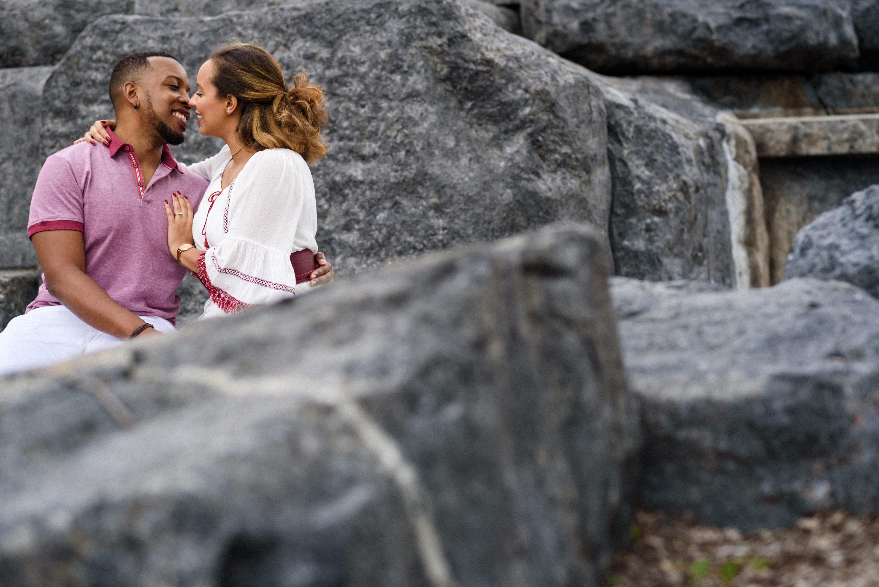 Mount Royal Park engagement photo
