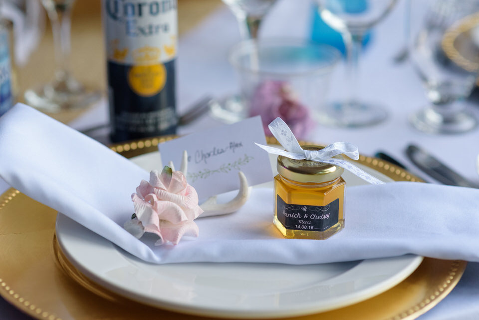 Local honey wedding favours