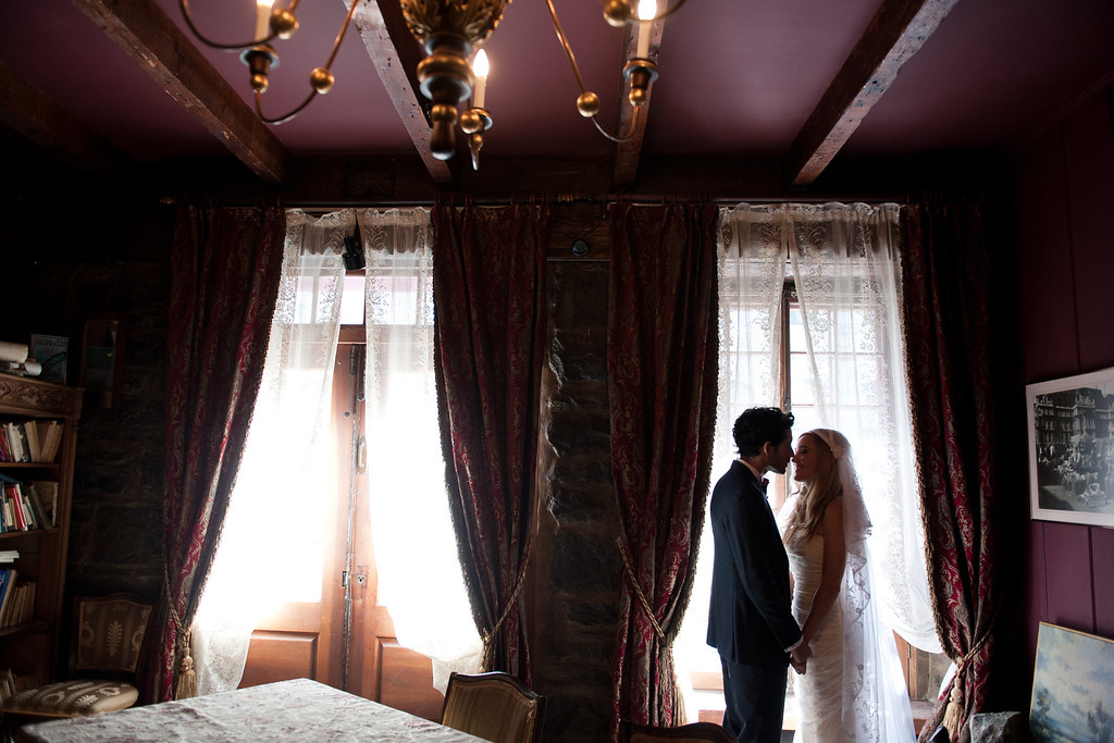 Wedding couple at Pierre du Calvet Hotel in Old Montreal
