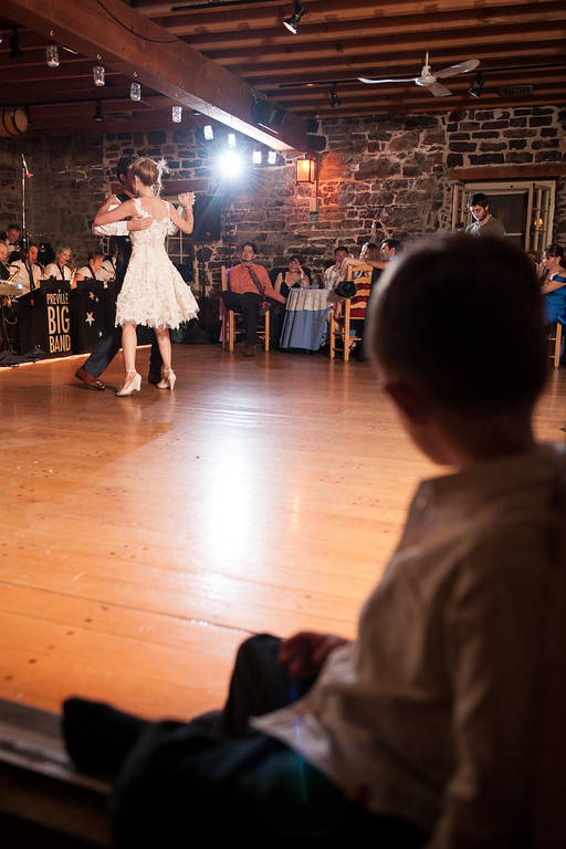 Ringbearer watching the first dance